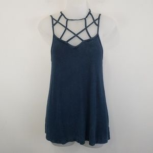 AEO soft & sexy rib tank with cage straps